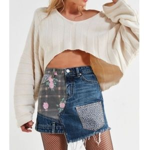 Urban Outfitters BDG Patchwork Denim Skirt Size S